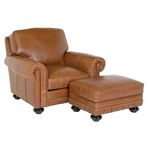 Leather Chair And Ottoman Classic Leather 8206 8205 Chambers Chair And Ottoman Discount Furniture At Hickory Park