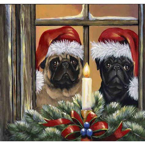 shop precious pet paintings  ft   ft pug christmas
