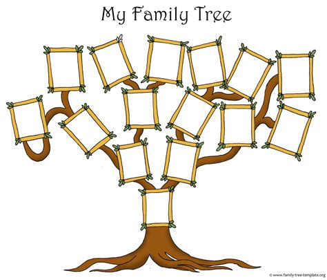 Free Family Tree Template Designs for Making Ancestry ...