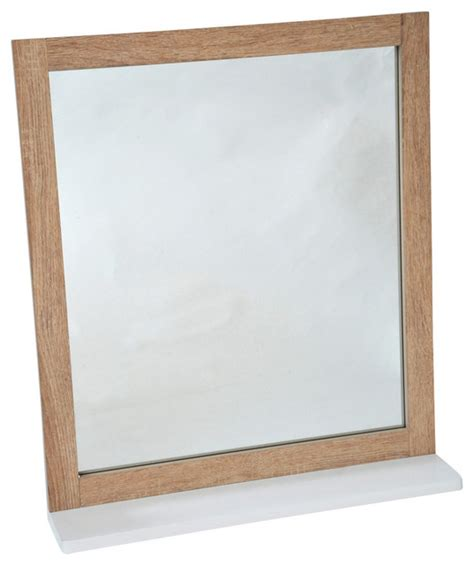 Beachy Bathroom Mirrors Wall Mounted Bath Mirror With Shelf Stockholm Wood Oak Color Style Bathroom Mirrors