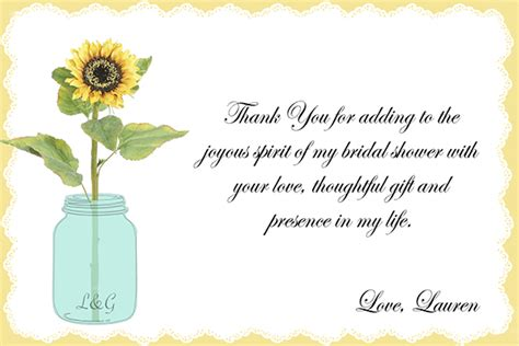 thank you notes for wedding shower gifts wording bridal shower thank you on behance