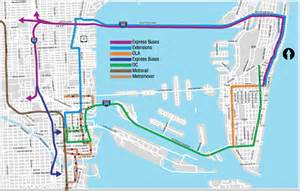Miami Bus Map by Transit Map The New Tropic