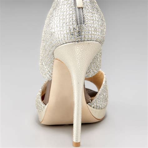 Silver Bridal Heels by Silver Bridal Heels Sparkly Sandals Cutout Stiletto Heels