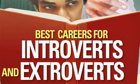 the best careers for introverts and extroverts infographic