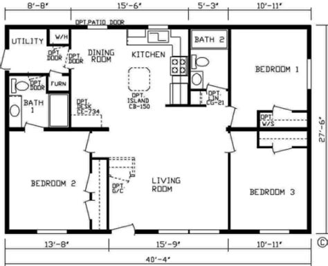 3 bedroom 2 bath open floor plans centennial homes