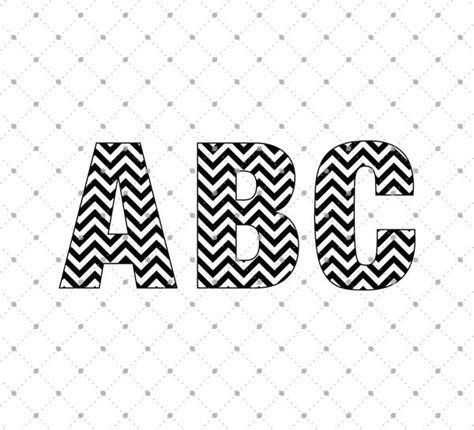 chevron pattern font free svg cut files for cricut and silhouette chevron alphabet