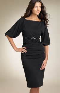 Black semi formal dresses with sleeve