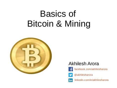 bitcoin tutorial ppt basics of bitcoin mining