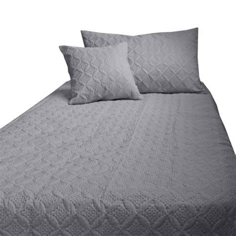 Quilted Bed Covers And Throws by Grey Quilted Bedspread Throws Filled Cushion Covers