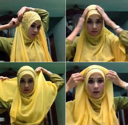tutorial jilbab paris ala zaskia sungkar tutorial hijab paris menutup dada ala zaskia mecca