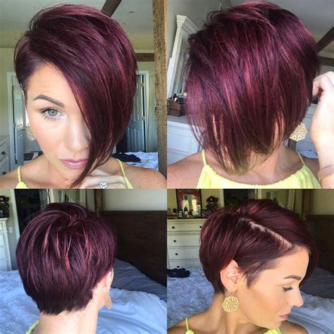#pixie #nothingbutpixies #shorthair #undercut #redviolet #asymmetrical pixie   Hairstyles