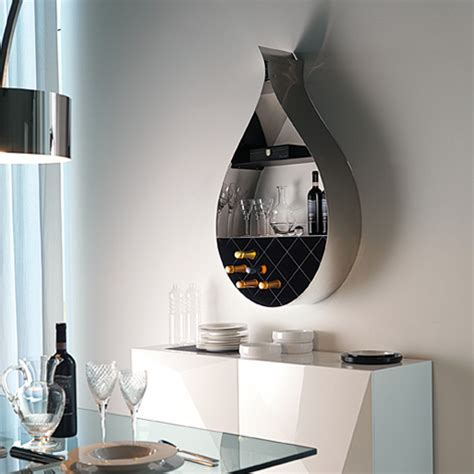contemporary wall wine rack shaped like a drop digsdigs
