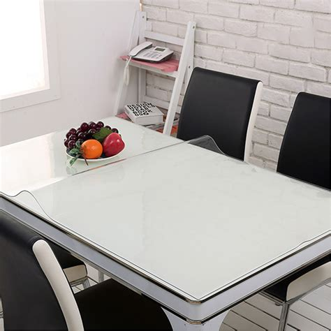 kitchen table protector yazi pvc clear tablecloth waterproof table protector kitchen dining room decor ebay