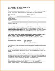 rental home agreement template 4 rental house agreement itinerary template sle