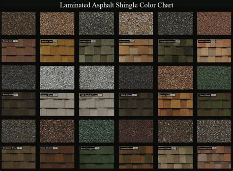roof shingle colors wide spectrum color selection