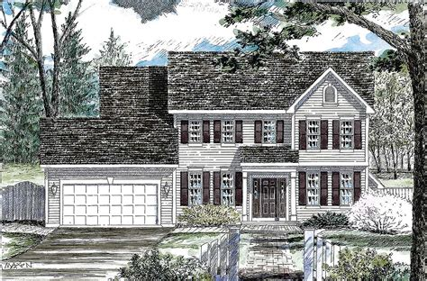 classic colonial house plan 19612jf architectural