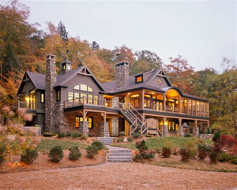 lake house maine custom home southern maine adirondack style lake house traditional exterior other by