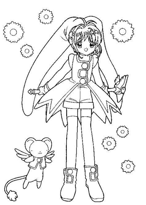 card captors sakura look at him happy card captors