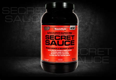secret sauce musclemeds secret sauce recovery of made easy prlog