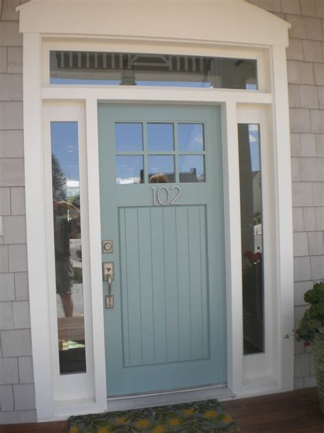 Entrance Front Doors Blue Front Door Color For Brick House Mixed With Wreath Homes Showcase