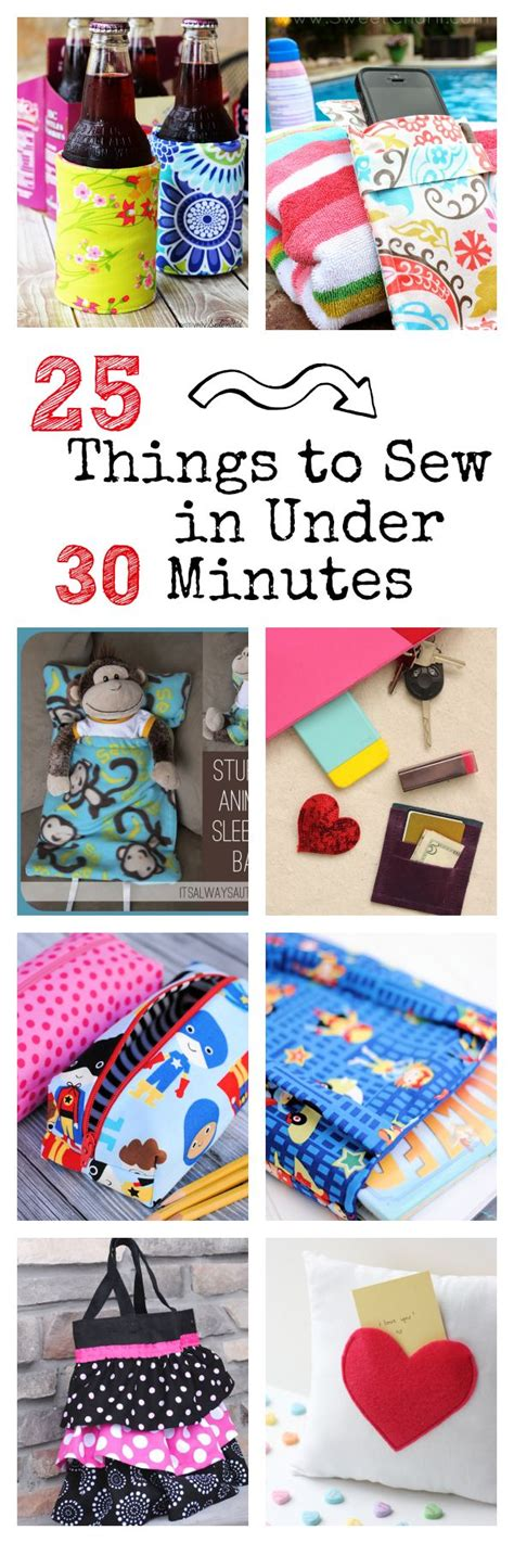 25 things to sew in sewing patterns 25 things to sew in 30 minutes