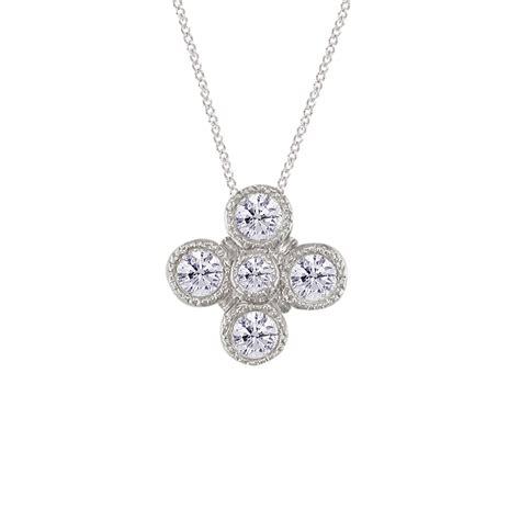 Retro Pendant Necklace white gold retro pendant road jewellery