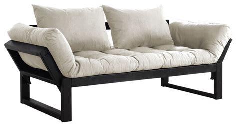houzz futon edge convertible futon sofa bed black frame