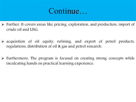 Export Management Notes For Mba by Amity Distance Mba In Petroleum And Gas Management