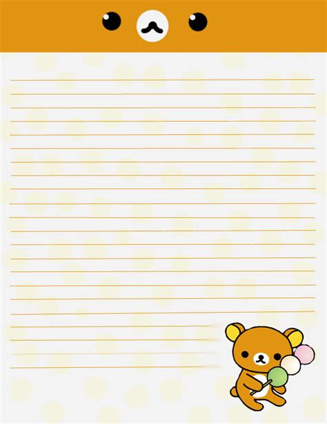 printable japanese writing paper rilakkuma stationary by neko loverx3 on deviantart