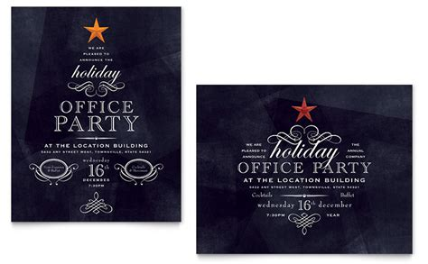 christmas invite wording for the office template office poster template word publisher