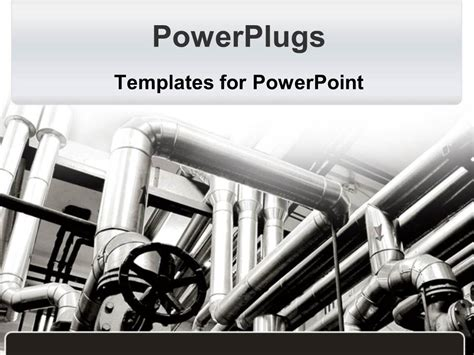 powerpoint themes industrial powerpoint template factory pipes in black and white