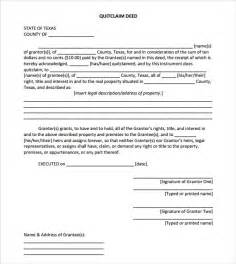 Florida Quit Claim Deed Form Template by Sle Quitclaim Deed Form Templates 9 Free Exles