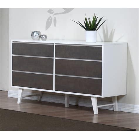 madrid light charcoal 6 drawer dresser overstock