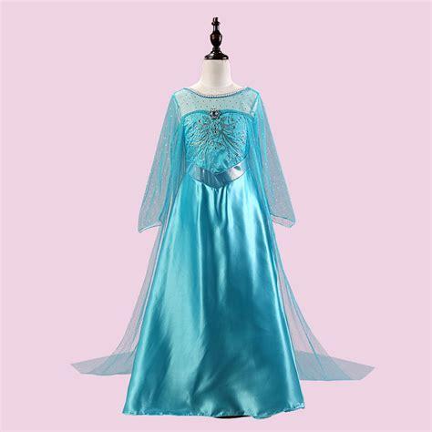 elsa lace dress girl snow queen christmas rapunzel