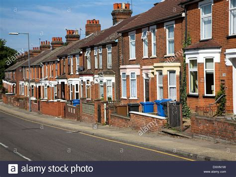 houses to buy in ipswich row of old nineteenth century terraced red brick houses with bay stock photo royalty