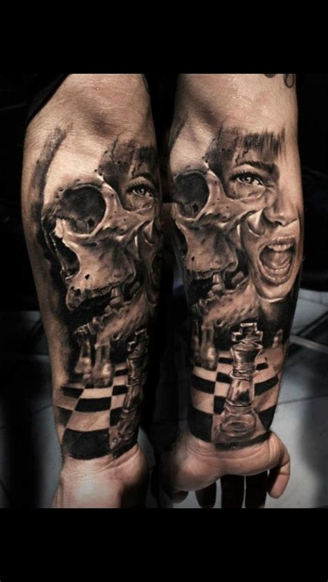 horror tattoos for men is a chess tattoos chess