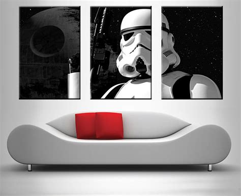 stormtrooper 3 panel wall canvas print canvas prints