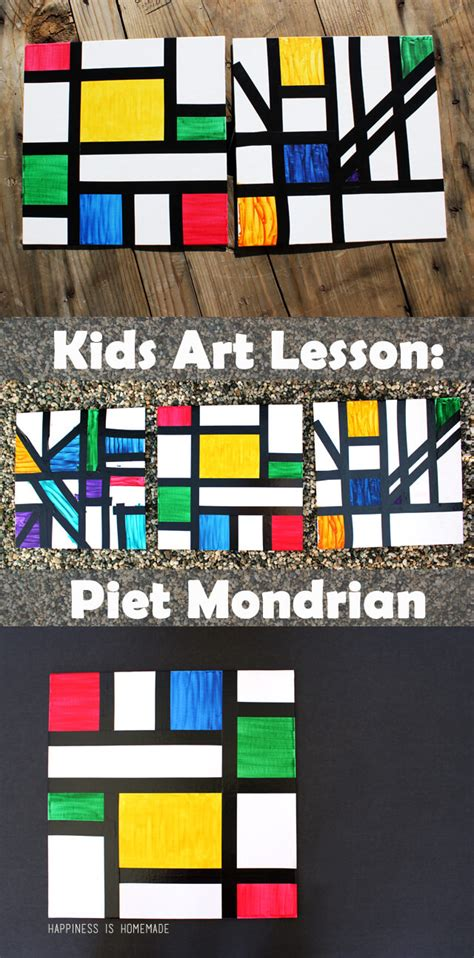 the artist s workbook easy to follow lessons for creating your own characters homeschool lesson piet mondrian happiness is