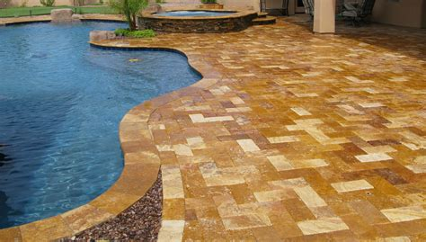 Affordable Kitchen Furniture by Falling In Love With Travertine Pavers Pool Deck Homesfeed