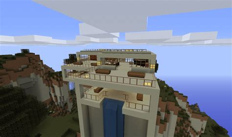 UPDATE!!! Modern Hill top house Minecraft Project