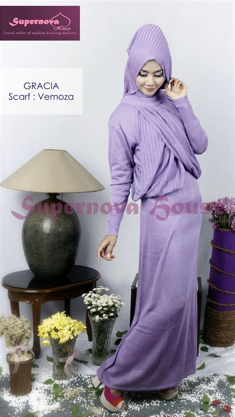 Baju Muslim Anak Ungu No 4 gracia gaya 2 ungu baju muslim gamis modern