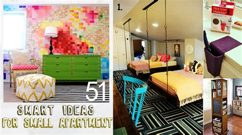 home decorating videos 51 smart decor ideas for small apartment youtube