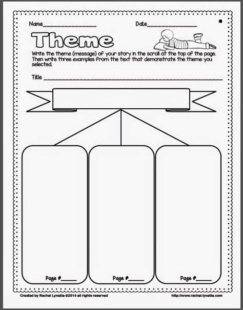 theme in literature graphic organizer ideas for teaching theme and a couple freebies couple