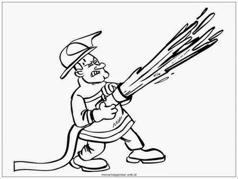 Coloring Mewarnai Profesi mewarnai gambar profesi pemadam kebakaran mewarnai gambar