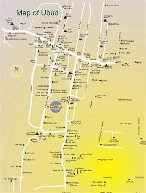 map  ubud peta wisata ubud bali info tempat wisata