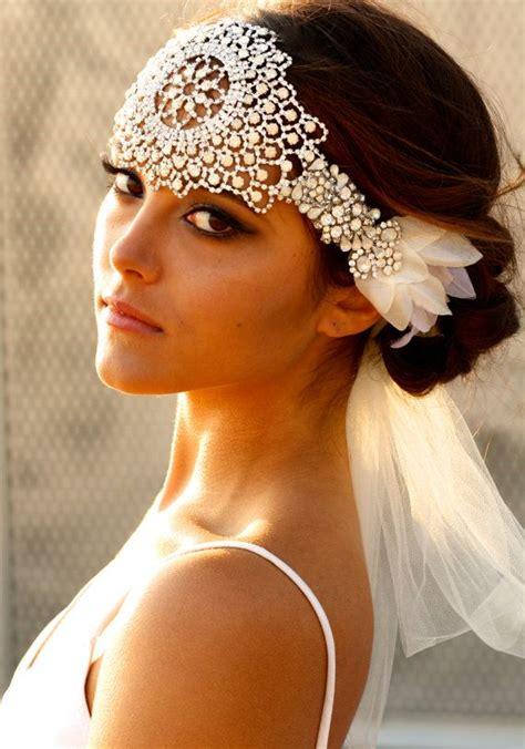 Vintage Wedding Hair Southton by Opal Lace Headpiece Jolene Wedding Planning