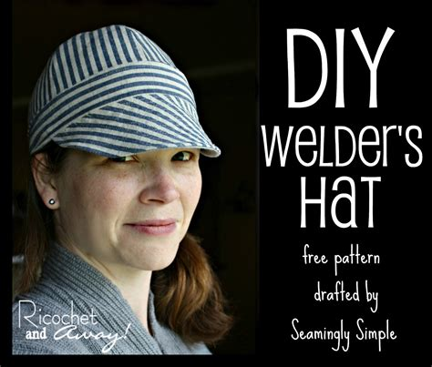 pattern for a reversible welding hat welding hats ricochet and away welder s hat i found a free pattern