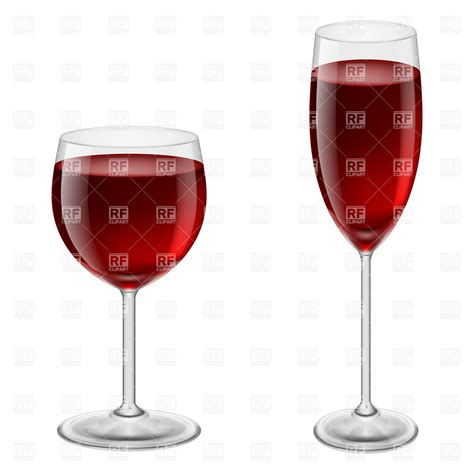 thick wine glasses two glasses of red wine thin and thick royalty free
