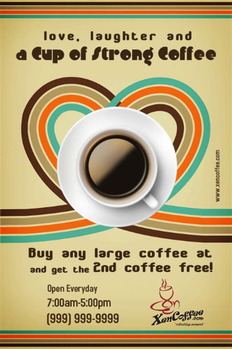 Coffee Shop Flyer Template Postermywall Free Coffee Website Templates