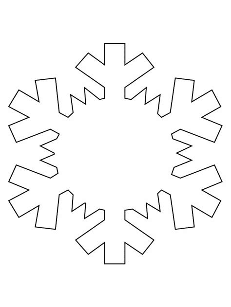 printable stencils of snowflakes snowflake template for kids az coloring pages